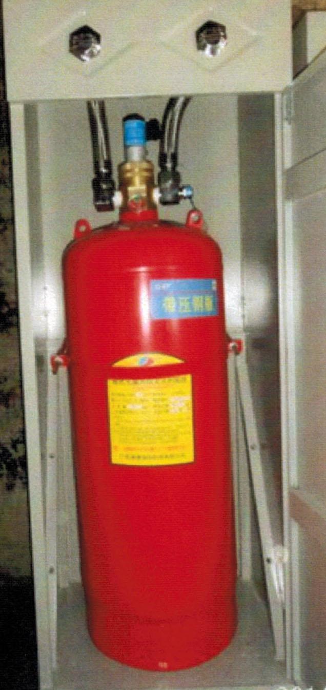 柜式七氟丙烷字体设计气体装置数字用什么字母灭火图片